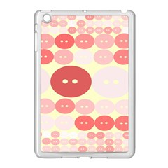 Buttons Pink Red Circle Scrapboo Apple Ipad Mini Case (white)