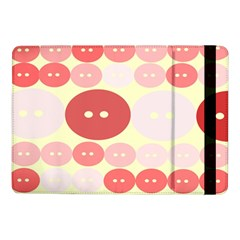 Buttons Pink Red Circle Scrapboo Samsung Galaxy Tab Pro 10 1  Flip Case by Alisyart