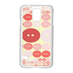 Buttons Pink Red Circle Scrapboo Samsung Galaxy S5 Case (white)