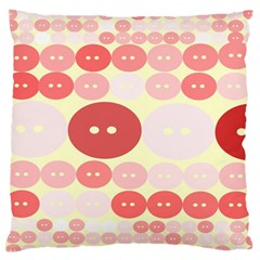 Buttons Pink Red Circle Scrapboo Standard Flano Cushion Case (two Sides) by Alisyart