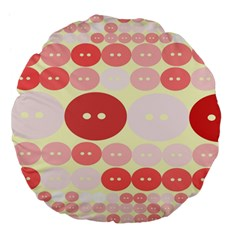 Buttons Pink Red Circle Scrapboo Large 18  Premium Flano Round Cushions by Alisyart