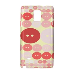 Buttons Pink Red Circle Scrapboo Samsung Galaxy Note 4 Hardshell Case by Alisyart