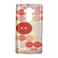 Buttons Pink Red Circle Scrapboo Lg G4 Hardshell Case