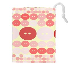 Buttons Pink Red Circle Scrapboo Drawstring Pouches (xxl) by Alisyart