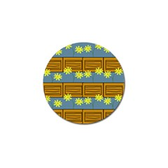 Yellow Flower Floral Sunflower Golf Ball Marker (4 Pack)