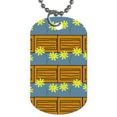 Yellow Flower Floral Sunflower Dog Tag (two Sides) by Alisyart