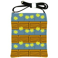 Yellow Flower Floral Sunflower Shoulder Sling Bags