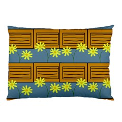 Yellow Flower Floral Sunflower Pillow Case (two Sides)