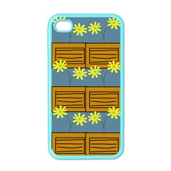 Yellow Flower Floral Sunflower Apple Iphone 4 Case (color)