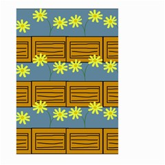 Yellow Flower Floral Sunflower Large Garden Flag (two Sides) by Alisyart