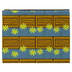 Yellow Flower Floral Sunflower Cosmetic Bag (xxxl)
