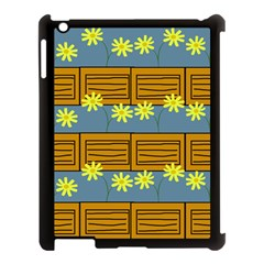 Yellow Flower Floral Sunflower Apple Ipad 3/4 Case (black)