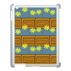Yellow Flower Floral Sunflower Apple Ipad 3/4 Case (white)