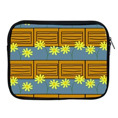 Yellow Flower Floral Sunflower Apple Ipad 2/3/4 Zipper Cases