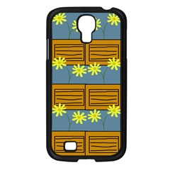 Yellow Flower Floral Sunflower Samsung Galaxy S4 I9500/ I9505 Case (black)