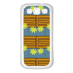 Yellow Flower Floral Sunflower Samsung Galaxy S3 Back Case (white)