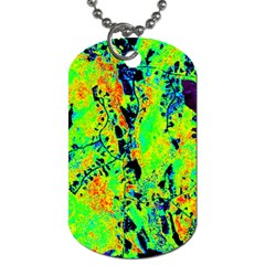 Bow Canopy Height Satelite Map Dog Tag (two Sides) by Alisyart