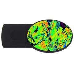 Bow Canopy Height Satelite Map Usb Flash Drive Oval (4 Gb) by Alisyart