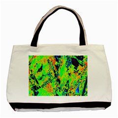 Bow Canopy Height Satelite Map Basic Tote Bag by Alisyart