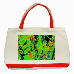 Bow Canopy Height Satelite Map Classic Tote Bag (red) by Alisyart