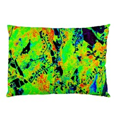 Bow Canopy Height Satelite Map Pillow Case by Alisyart