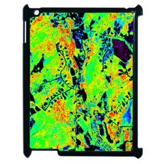 Bow Canopy Height Satelite Map Apple Ipad 2 Case (black)