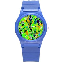 Bow Canopy Height Satelite Map Round Plastic Sport Watch (s)