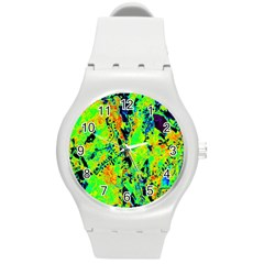 Bow Canopy Height Satelite Map Round Plastic Sport Watch (m) by Alisyart