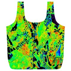 Bow Canopy Height Satelite Map Full Print Recycle Bags (l)  by Alisyart