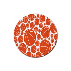 Basketball Ball Orange Sport Rubber Coaster (round)  by Alisyart