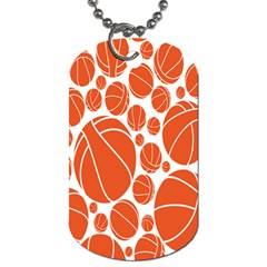 Basketball Ball Orange Sport Dog Tag (two Sides) by Alisyart