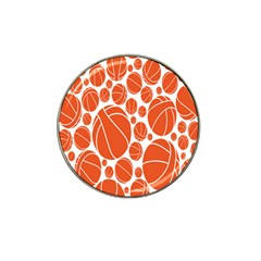 Basketball Ball Orange Sport Hat Clip Ball Marker (4 Pack) by Alisyart