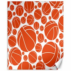 Basketball Ball Orange Sport Canvas 16  X 20   by Alisyart