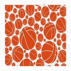 Basketball Ball Orange Sport Medium Glasses Cloth (2 Side) by Alisyart