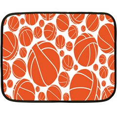 Basketball Ball Orange Sport Fleece Blanket (mini) by Alisyart