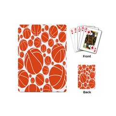 Basketball Ball Orange Sport Playing Cards (mini)  by Alisyart