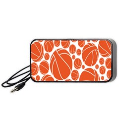 Basketball Ball Orange Sport Portable Speaker (black) by Alisyart