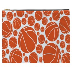 Basketball Ball Orange Sport Cosmetic Bag (xxxl)