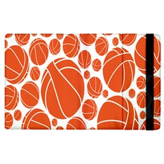 Basketball Ball Orange Sport Apple Ipad 3/4 Flip Case by Alisyart