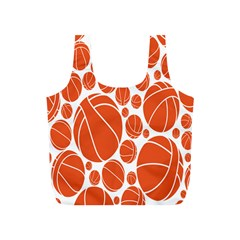 Basketball Ball Orange Sport Full Print Recycle Bags (s)  by Alisyart