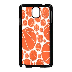 Basketball Ball Orange Sport Samsung Galaxy Note 3 Neo Hardshell Case (black)