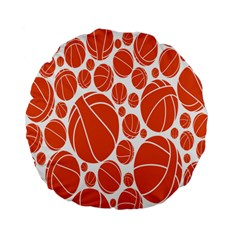 Basketball Ball Orange Sport Standard 15  Premium Flano Round Cushions by Alisyart