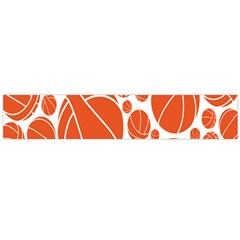 Basketball Ball Orange Sport Flano Scarf (large) by Alisyart