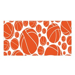 Basketball Ball Orange Sport Satin Shawl by Alisyart