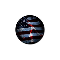 Grunge American Flag Background Golf Ball Marker (10 Pack) by Simbadda