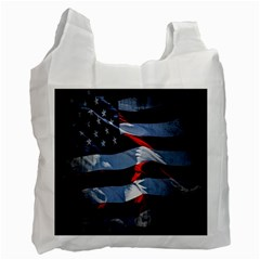 Grunge American Flag Background Recycle Bag (two Side)  by Simbadda