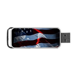 Grunge American Flag Background Portable Usb Flash (two Sides) by Simbadda