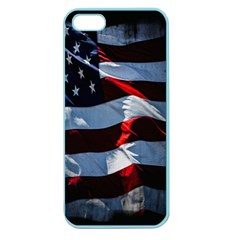 Grunge American Flag Background Apple Seamless Iphone 5 Case (color) by Simbadda