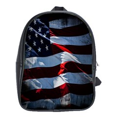 Grunge American Flag Background School Bags (xl)