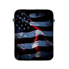 Grunge American Flag Background Apple Ipad 2/3/4 Protective Soft Cases by Simbadda